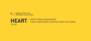Marque na agenda: Heart / arrhythmias management tridimensional mapping hands-on course